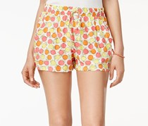 Be Bop Juniors Pineapple-Print Soft Short, Ivory/Pink