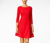 Jessica Howard Glitter A-line Dress, Red