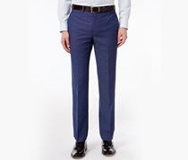 Calvin Klein Men's Extra Slim-Fit Blue Check Dress Pants, Blue