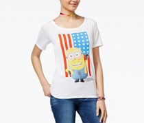 Despicable Me Minion Flag Graphic Tshirt, White