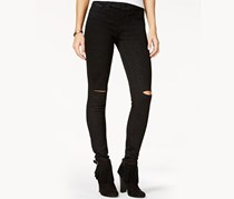 Jessica Simpson Kiss Me Ripped Skinny Jeans, Black Wash