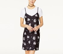Juniors Printed Cami Dress, Black