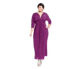 Love Squared Plus Size Three-Quarter-Sleeve, Magenta