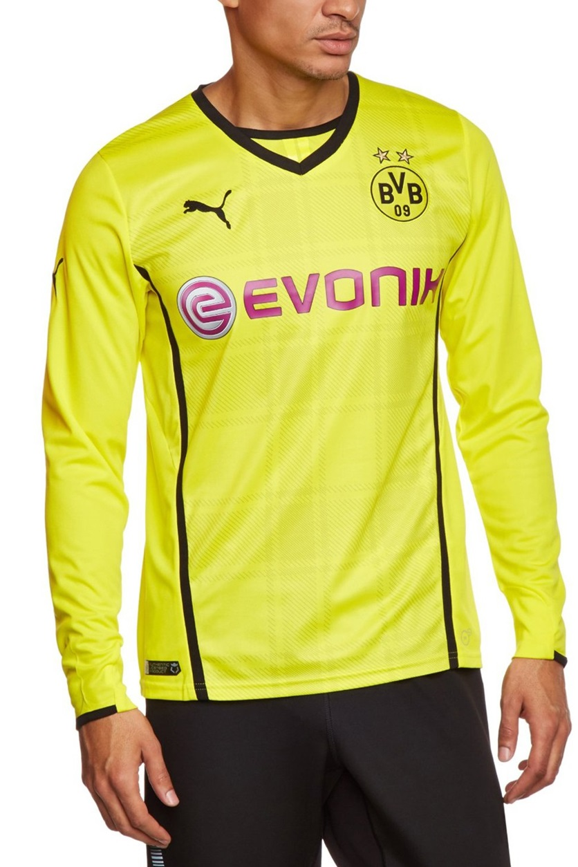 online store 58135 f273c Shop Puma Puma BVB Long-Sleeved Football Shirt Home Shirt ...