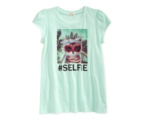 Monteau Girls Graphic-Print T-Shirt, Seafoam