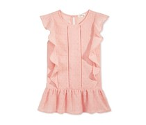 Monteau Ruffled Peplum Top,  Peach