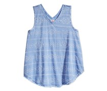 Girls' Blue Graphic-Print Swing Tank, Chambray