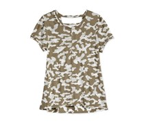 Kandy Kiss V Camouflage T-Shirt, Lizard Green
