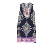 Monteau Girl's Floral Dress, Navy
