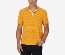 Nautica Mens Reginald Striped Polo, Tangelo