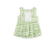 Kandy Kiss Girls' Tie-Front Swing Tank, Green Combo