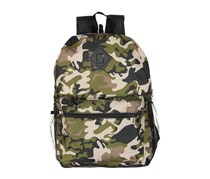 FAB 6-Pc. Camo-Print Backpack & Accessories Set, Olive/Black