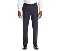Kenneth Cole Mens Slim-Fit  Pants, Blue Windowpane