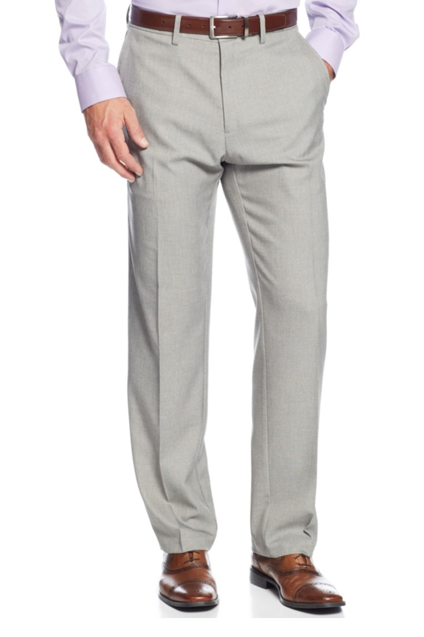 Men's Stretch Solid Twill Pants, Oatmeal