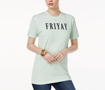 Kid Dangerous Cotton Friyay Graphic T-Shirt, Mint