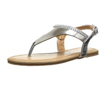 Kensie Girls Thong Sandals With Stone, Silver