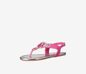 Kensie Girl Toddlers Embellished T-Strap Sandal, Fuchsia