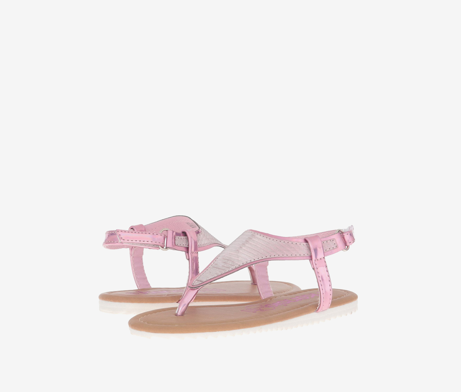 Kensie Girl Little Kids Thong Sandals, Pink Metallic