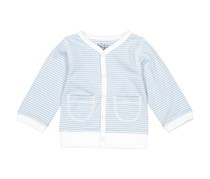 Kapital K Baby Girls Stripe Sweater, Pale Blue/White