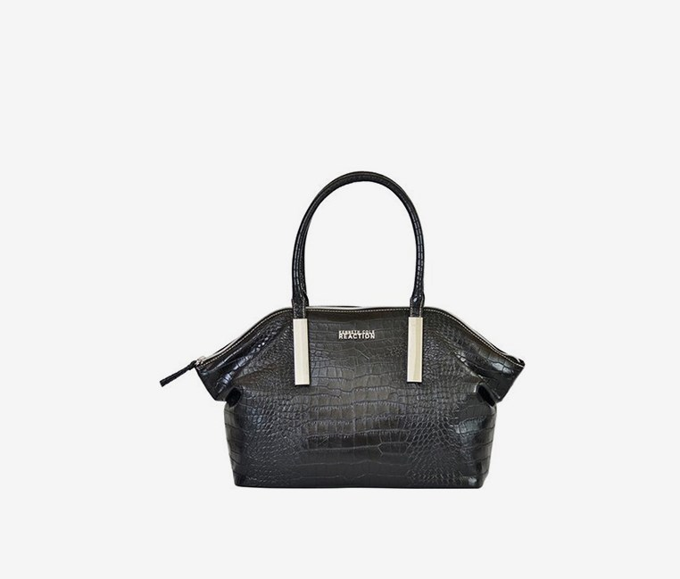 Reaction Inga Croco Satchel Handbag
