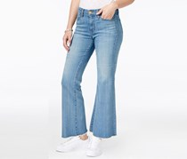 Kut from the Kloth Belle Flare-Leg Cropped Jeans, Mild Wash