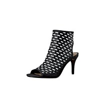 Nina Originals Kristene Peep-Toe Shooties, Black/White