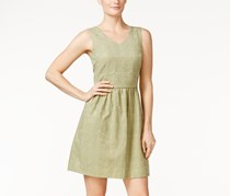 Kensie Textured Fit & Flare Dress, Olive