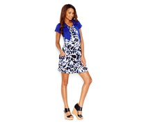 Kensie Printed Zip-Front Dress, Combo
