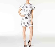 Kensie Floral-Print A-Line Dress, White