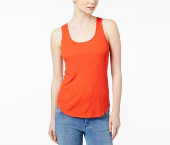 Ribbed Tank Top, Hot Lava