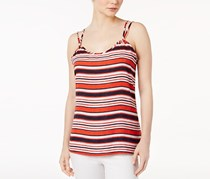 Kensie Sandbox Striped Top, Hot Lava Combo