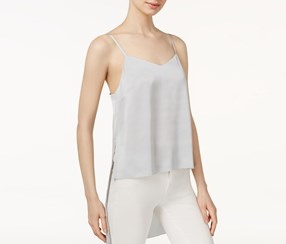 Kensie Women's High-Low Camisole, Silver