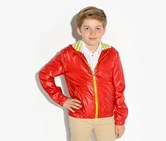 Guess Kids Boys Sporty Jacket, Red/Neon Green