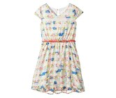 Lavender by Us Angels Girls Floral Shadow Stripe Dress, Mint/Blue