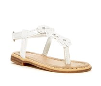 Laura Ashley Girl's Toddlers Floral Sandal, White