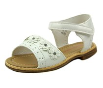 Laura Ashley Girl's Toddlers Floral Sandal, White Patent