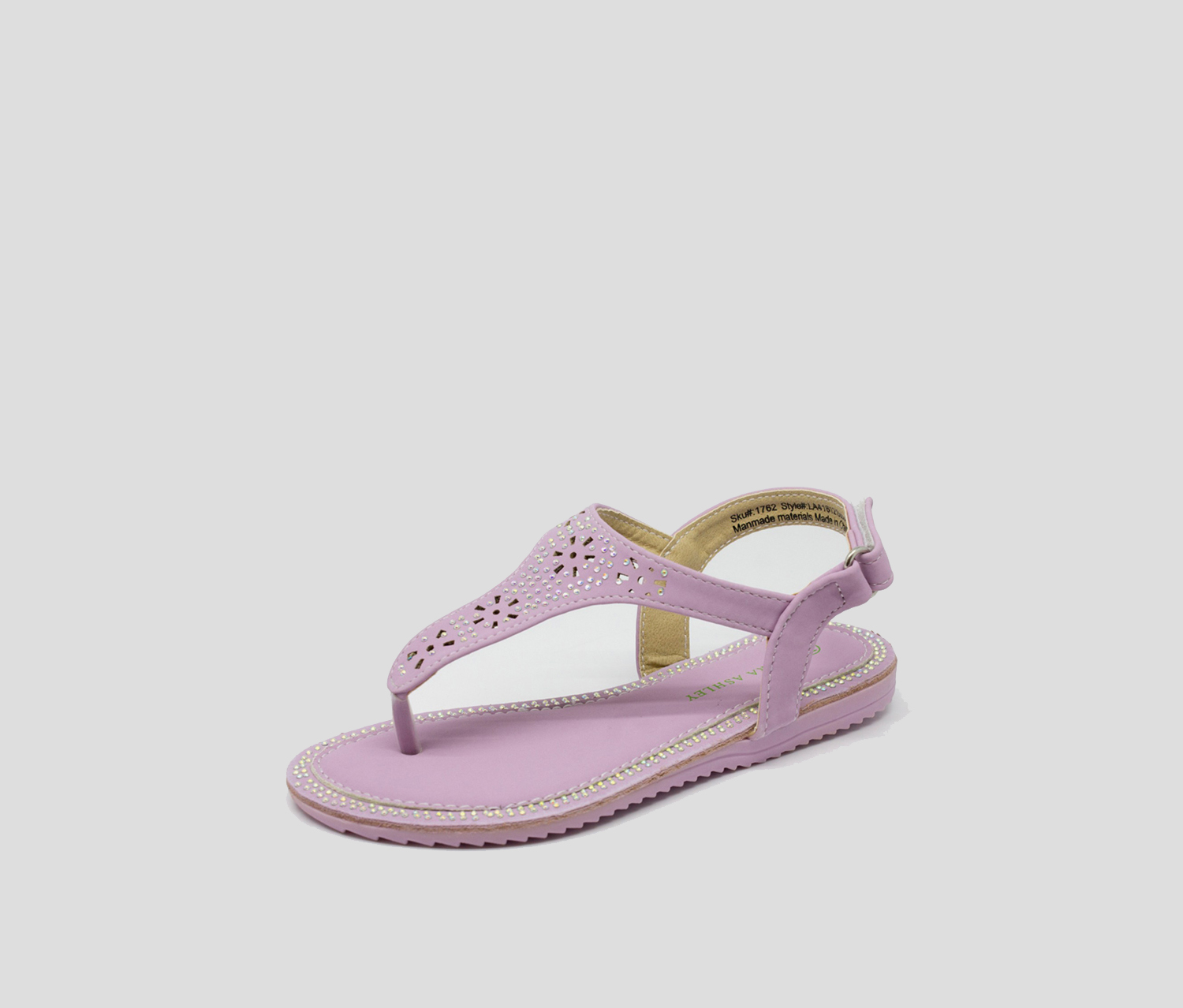 Laura Ashley Girl's Toddlers Beaded Sandal,Light Purple