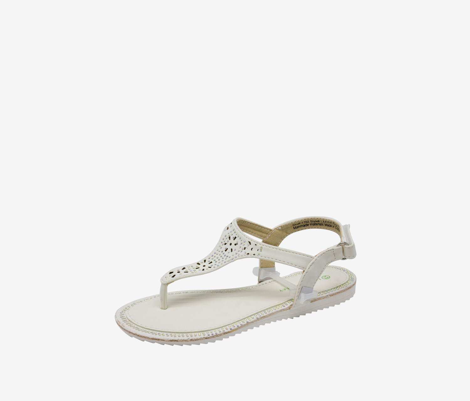 Laura Ashley Girl's Toddlers Beaded Sandal, White