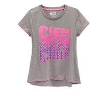 Layer 8 Girls Cheer T-shirt,Frost Grey