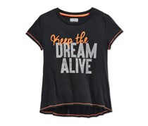 Layer 8 Girls Keep The Dream Alive T-shirt,Black