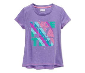 Layer 8 Girls Undefeated T-Shirt, Purple
