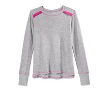 Layer 8 Girls Long Sleeve Thermal Oxford Shirt