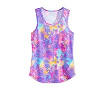 Layer 8 Girls Abstract Print Racerback, Pastel Floral
