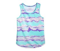 Layer 8 Girls Abstract Print Racerback,Tiedye Wave