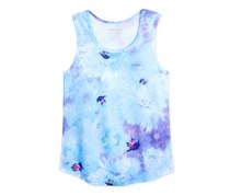Girls' Abstract-Print Racerback Tank, Blue Fish/ Icy Garden