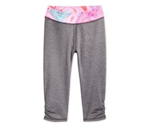Little Girls Printed-Waistband, Granite Heather Marble
