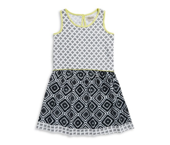 Lucky Brand Girls Multi-Patterned Dress, Multi White