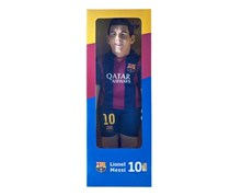 FC Barcelona Official Lionel Messi Football Player Bubuzz Doll, Blue/Red