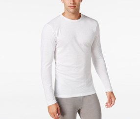 Men's Long-Sleeve Undershirt, White