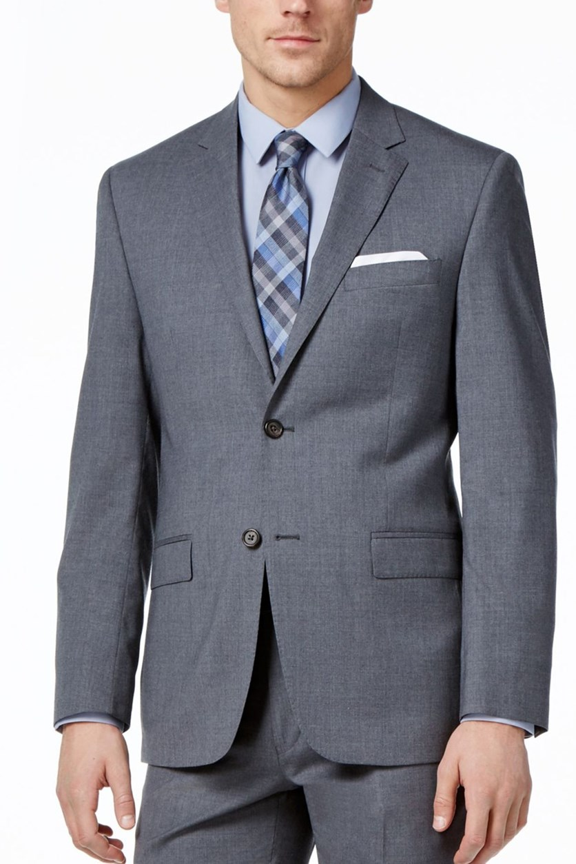 Men's Slim-Fit Ultra-Flex Blazer, Medium Grey